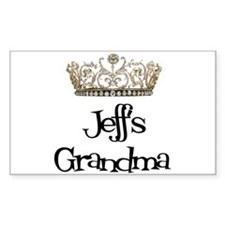 Jeff's Grandma Rectangle Decal