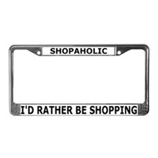 Shopaholic License Plate Frame