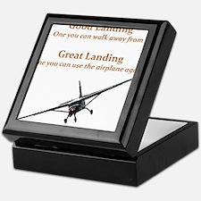 Good Landing/Great Landing Keepsake Box