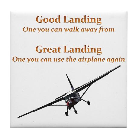 Good Landing/Great Landing Tile Coaster
