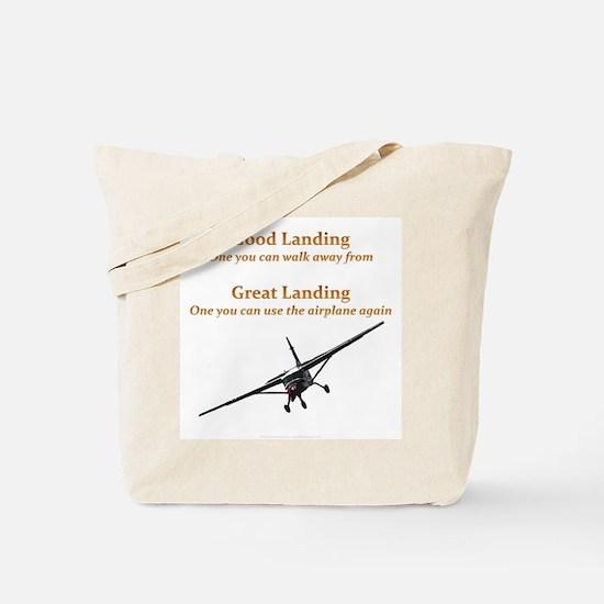 Good Landing/Great Landing Tote Bag