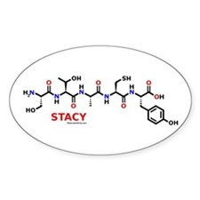 Stacy name molecule Oval Decal
