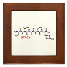 Stacy name molecule Framed Tile
