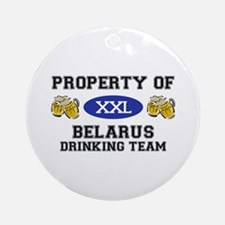 Property of Belarus Drinking Team Ornament (Round)