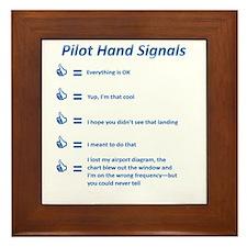 Hand Signals Framed Tile