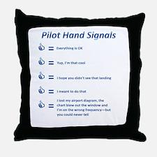 Hand Signals Throw Pillow