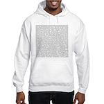 Techno-Power Words on Hooded Sweatshirt