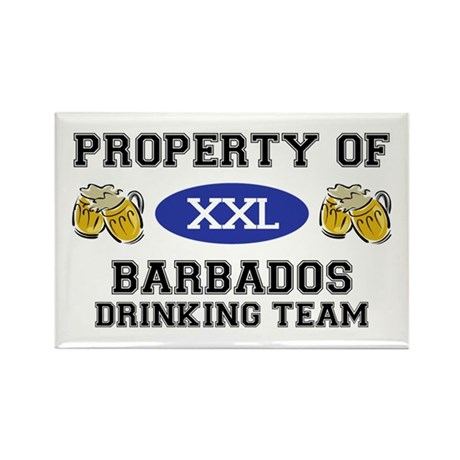 Property of Barbados Drinking Team Rectangle Magne