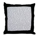 Techno-Power Words on Throw Pillow