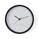 Techno-Power Words on Wall Clock