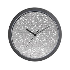 Techno-Power Words on Wall Clock