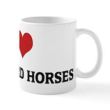 I Love Vlaamperd Horses Mug