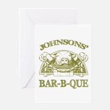Johnson Family Name Vintage Barbeque Menu Blank