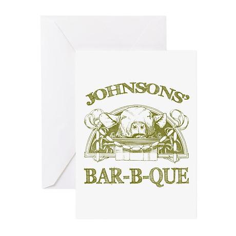 Johnson Family Name Vintage Barbeque Menu 20 pk