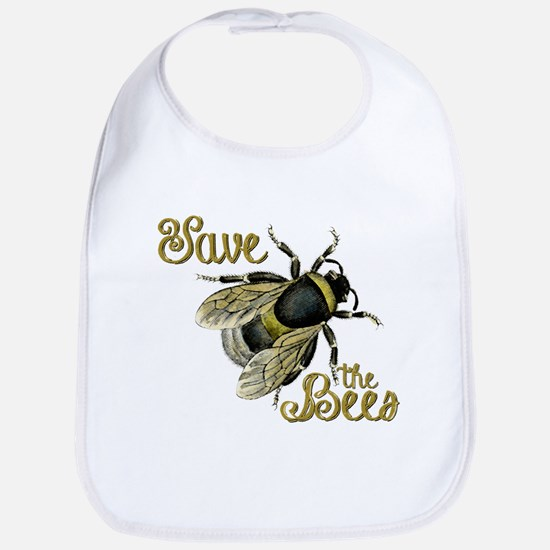 Save Bees Cotton Baby Bib