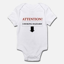 ATTENTION CHOKING HAZZARD Infant Bodysuit
