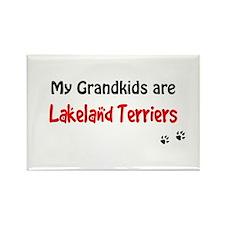 Lakeland Terrier Grandkids Rectangle Magnet