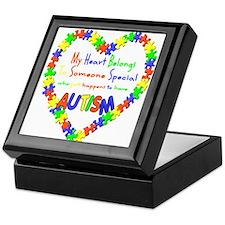 Autism Heart Keepsake Box