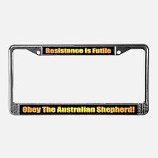 Australian Shepherd Dog License Plate Frame