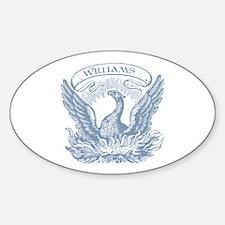 Williams Vintage Eagle Last Name Oval Decal