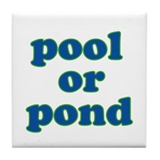 pool or pond Tile Coaster