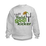 Future Field Goal Kicker Kids Sweatshirt