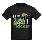 Future Field Goal Kicker Kids Dark T-Shirt