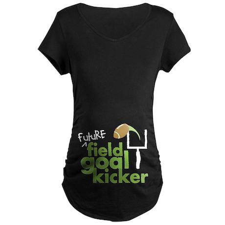 Future Field Goal Kicker Maternity Dark T-Shirt