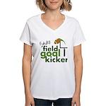 Future Field Goal Kicker Women's V-Neck T-Shirt