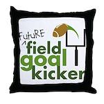 Future Field Goal Kicker Throw Pillow