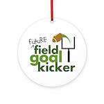 Future Field Goal Kicker Ornament (Round)