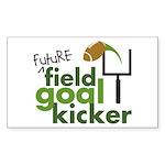 Future Field Goal Kicker Rectangle Sticker