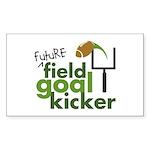 Future Field Goal Kicker Rectangle Sticker 10 pk)