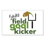Future Field Goal Kicker Rectangle Sticker 50 pk)