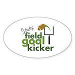Future Field Goal Kicker Oval Sticker (10 pk)