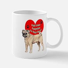 Pug Paw Prints Mug