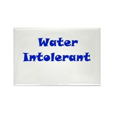 Water Intolerant Rectangle Magnet