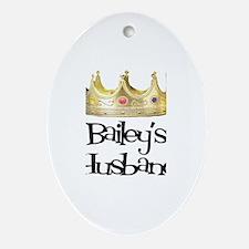 Bailey's Husband Oval Ornament