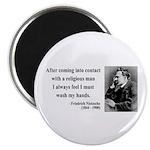 """Nietzsche 6 2.25"""" Magnet (100 pack)"""