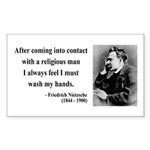 Nietzsche 6 Rectangle Sticker