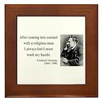 Nietzsche 6 Framed Tile