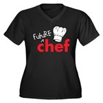 Future Chef Women's Plus Size V-Neck Dark T-Shirt