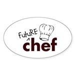 Future Chef Oval Sticker (10 pk)