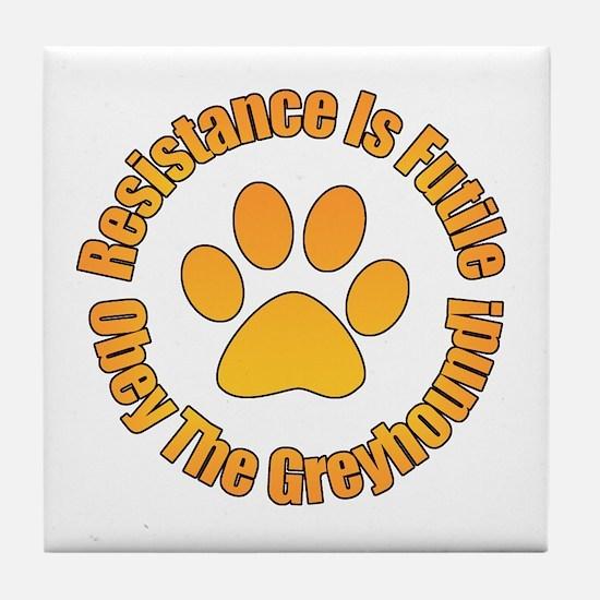 Greyhound Tile Coaster