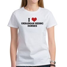 I Love Ukrainian Riding Horse Tee