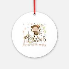 Adorable Hannah Monkey Ornament (Round)