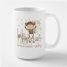 Adorable Hannah Monkey Large Mug