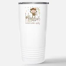 Adorable Hannah Monkey Stainless Steel Travel Mug