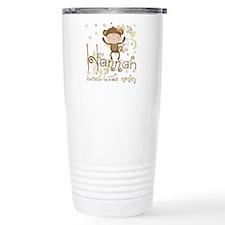 Adorable Hannah Monkey Travel Coffee Mug
