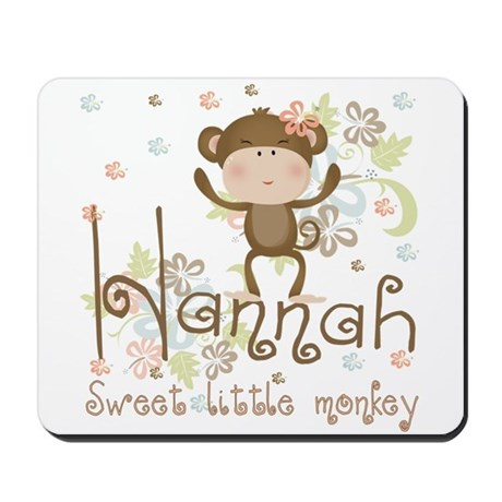 Adorable Hannah Monkey Mousepad